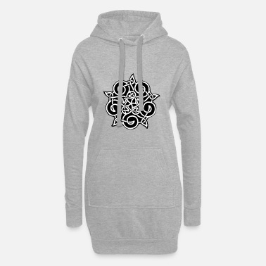 Ornament ornament - Hoodie kjole dame