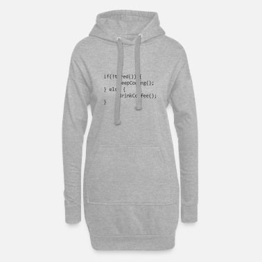 Coder Keep Coding drink coffee - Frauen Hoodiekleid