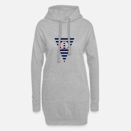 Sailboat Hoodies & Sweatshirts - Flag, lighthouse, maritime, pennants - Women's Hoodie Dress heather grey