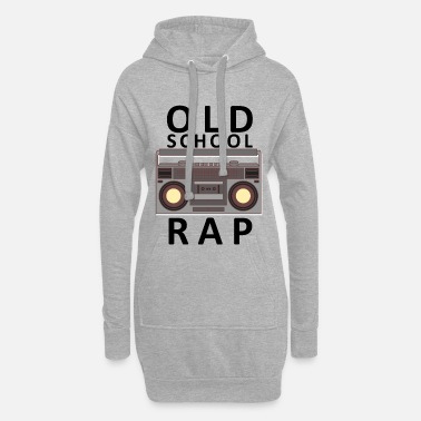 Old School Rap Old School Rap cassette radio vintage - Women's Hoodie Dress
