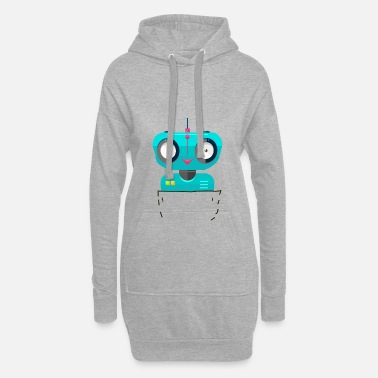 Scifi pocket robot bags robot scifi - Women's Hoodie Dress