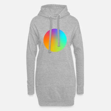 Multi Coloured Gradient Circle Multi-Coloured - Women's Hoodie Dress