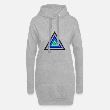Triangle Triangles in triangle - Women's Hoodie Dress