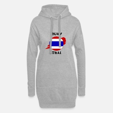 Thailand flag with Muay Thai script - Women's Hoodie Dress