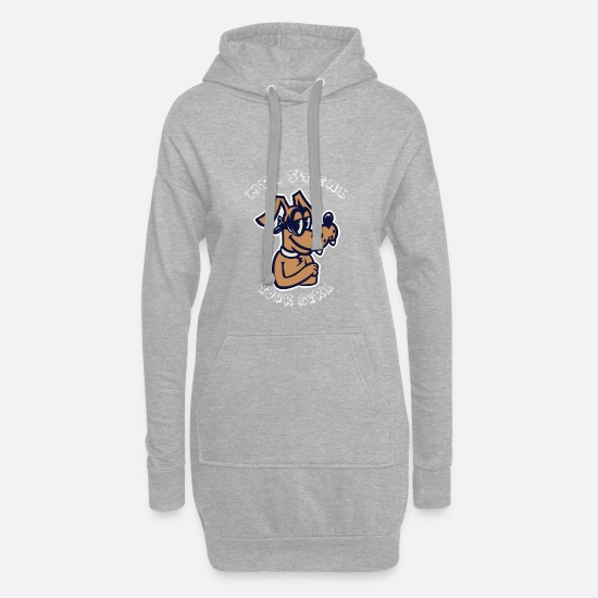 Gift Idea Hoodies & Sweatshirts - Mr. Steal your girl - dog - gift - Women's Hoodie Dress heather grey