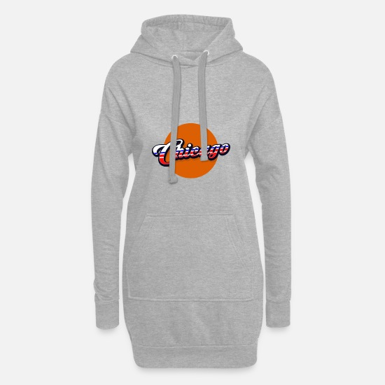 Country Hoodies & Sweatshirts - Chicago - Women's Hoodie Dress heather grey