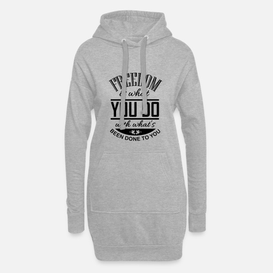 Love Hoodies & Sweatshirts - freedom - Women's Hoodie Dress heather grey