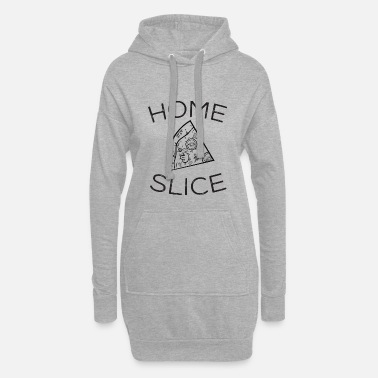 Hipster Home Slice - Cool Pizza Design - Women's Hoodie Dress