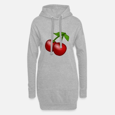 Cherries / red / bright / gift / female - Women's Hoodie Dress