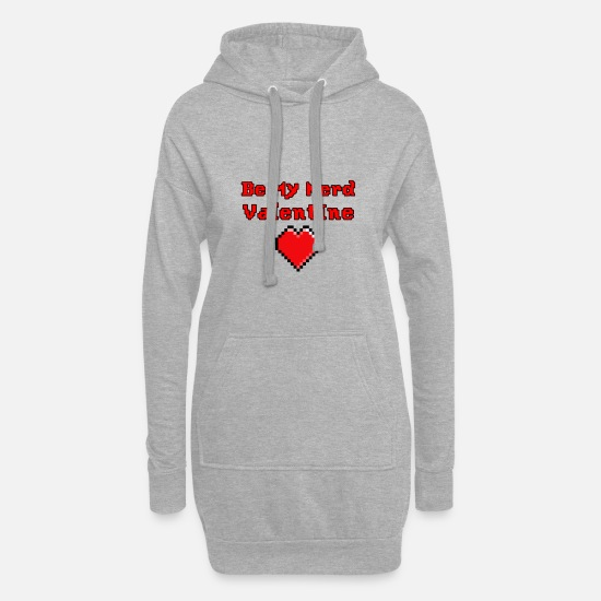 Love Hoodies & Sweatshirts - be my nerd valentine - Women's Hoodie Dress heather grey