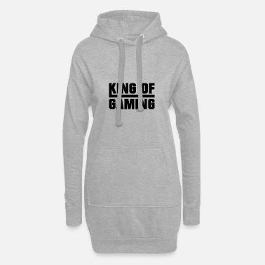 Nörd King of gaming - Hoodie klänning dam