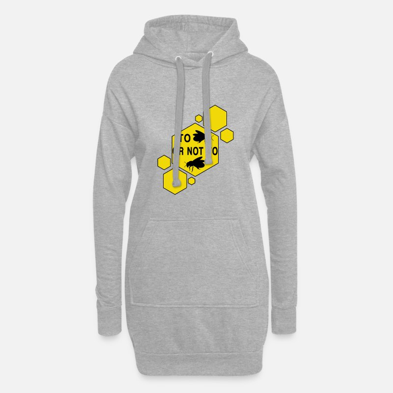 Honeycomb Hoodies & Sweatshirts - To Bee or not to Bee - Women's Hoodie Dress heather grey