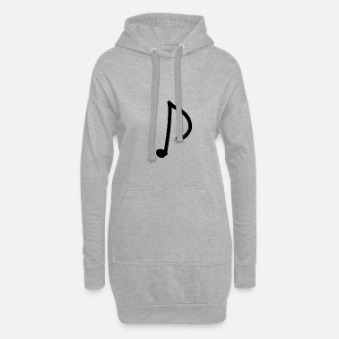 Note Note - eighth note - Women's Hoodie Dress