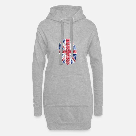 United Hoodies & Sweatshirts - United Kingdom - Women's Hoodie Dress heather grey
