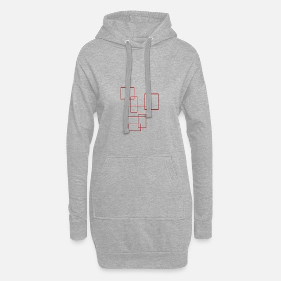 Gift Idea Hoodies & Sweatshirts - rectangles - Women's Hoodie Dress heather grey