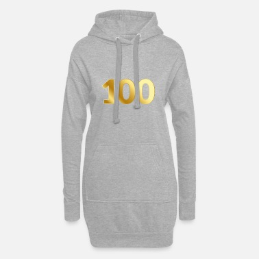 High School Graduate 100 Anniversary Birthday Honor Gift Anniversary - Women's Hoodie Dress
