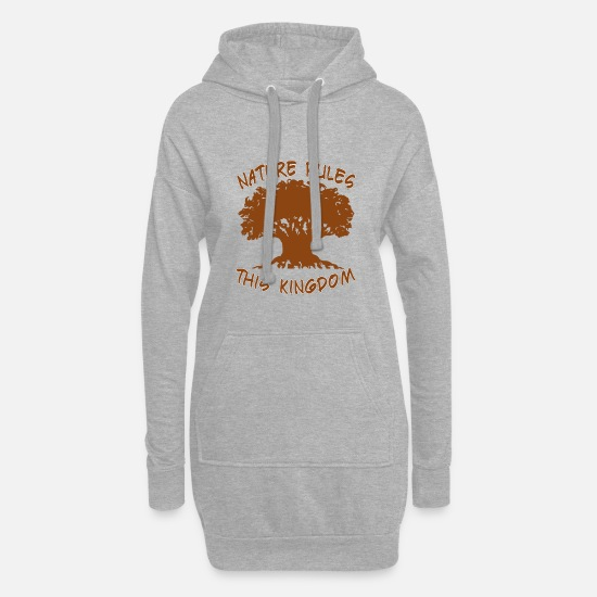 Safari Hoodies & Sweatshirts - Nature Rules This Kingdom - Women's Hoodie Dress heather grey