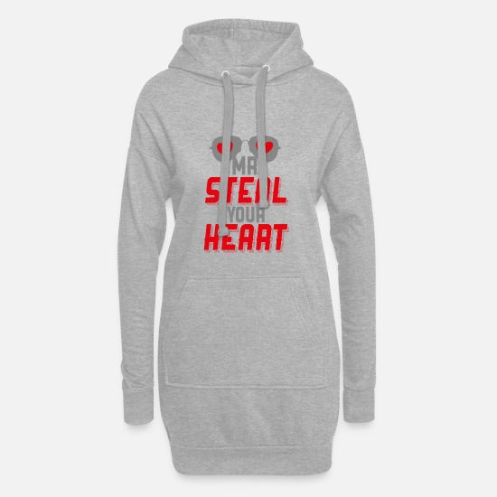 Love Hoodies & Sweatshirts - Mr Steal Your Heart - Women's Hoodie Dress heather grey