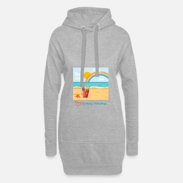 Summer Summer holidays at the beach, sea, sand and sun - Women's Hoodie Dress