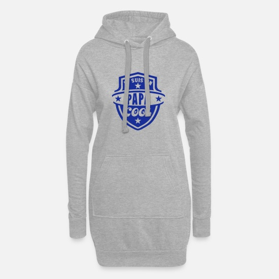 Best Dad Hoodies & Sweatshirts - dad cool logo pennant 1 - Women's Hoodie Dress heather grey