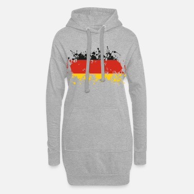 Patriot Deutschland Flagge Ink - Frauen Hoodiekleid