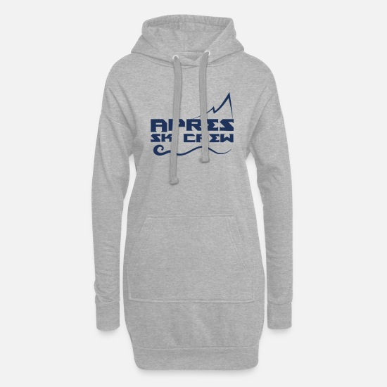 Afterski Pullover & Hoodies - Party Apres Ski Apres Skier Afterski After Ski - Frauen Hoodiekleid Grau meliert