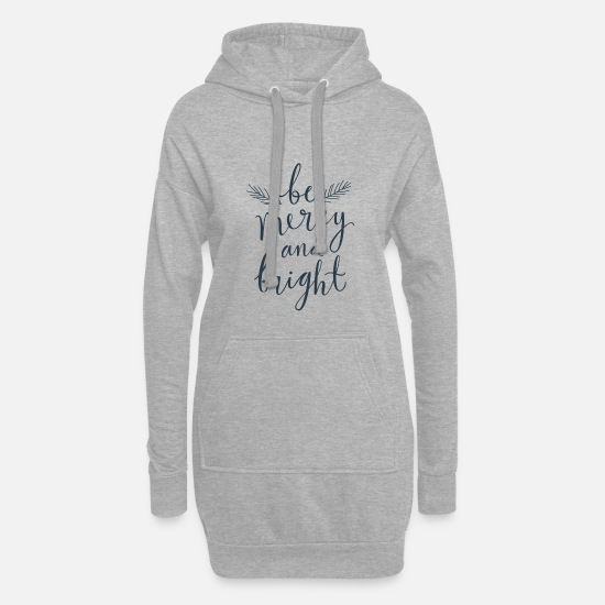 Christmas Hoodies & Sweatshirts - Be merry and bright - Women's Hoodie Dress heather grey
