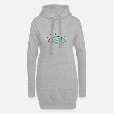 View Abstract eye, gift, gift idea - Women's Hoodie Dress