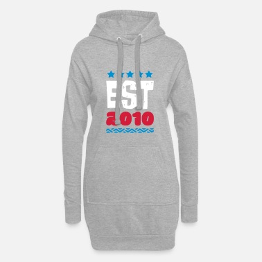 2010 EST 2010 - ESTABLISHED IN 2010 - Women's Hoodie Dress