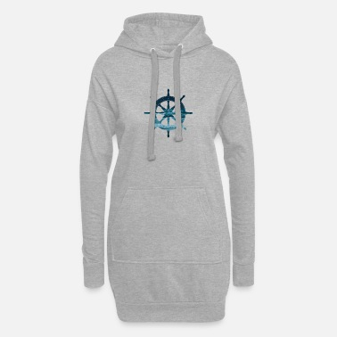 Wheel ship steering wheel - Women's Hoodie Dress