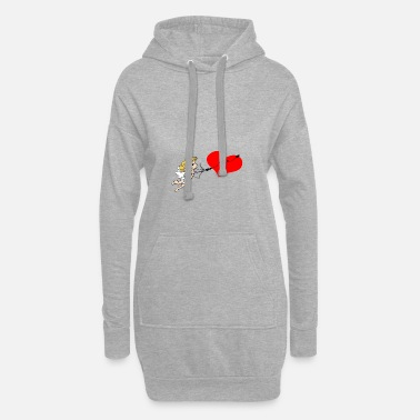 new love - Frauen Hoodiekleid