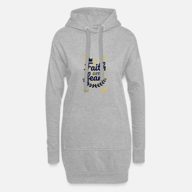 Church Faith Over Fear - Women's Hoodie Dress