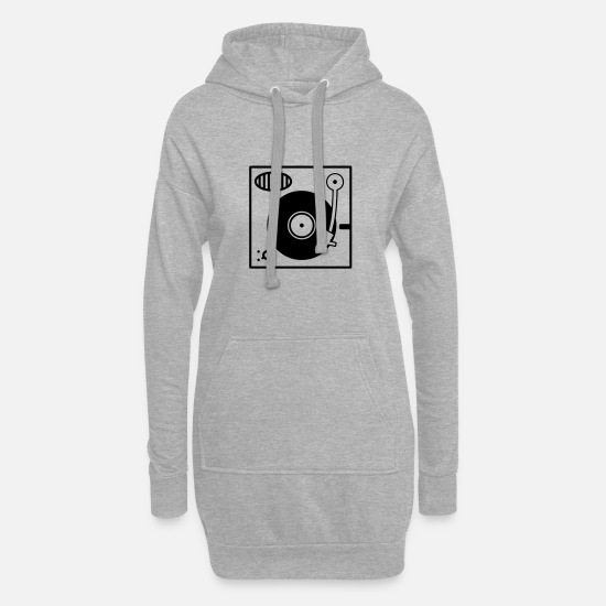 Dj Hoodies & Sweatshirts - Vinyl Turntable - Women's Hoodie Dress heather grey