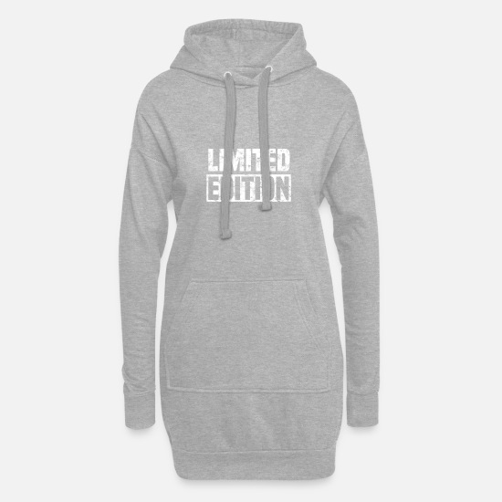 Washed Pullover & Hoodies - Limited Edition washed Geschenk - Frauen Hoodiekleid Grau meliert