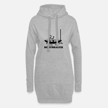Stick Boatbuilder - stick figure - Women's Hoodie Dress