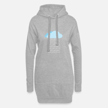 Rain Binary rain, Binary rain - Women's Hoodie Dress