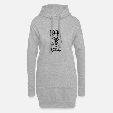 Beast Mode Lion every beast needs a beauty Beast fashion - Women's Hoodie Dress
