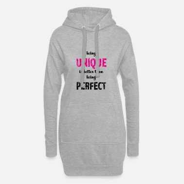 Quotes being UNIQUE - Women's Hoodie Dress
