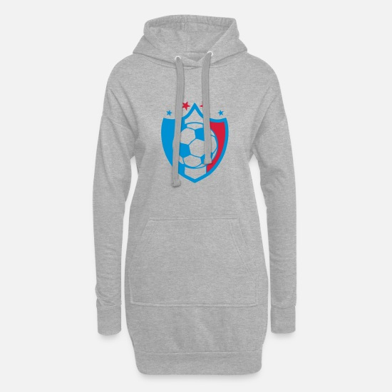 National Team Hoodies & Sweatshirts - france foot supporter ecusson 1 pennant team - Women's Hoodie Dress heather grey