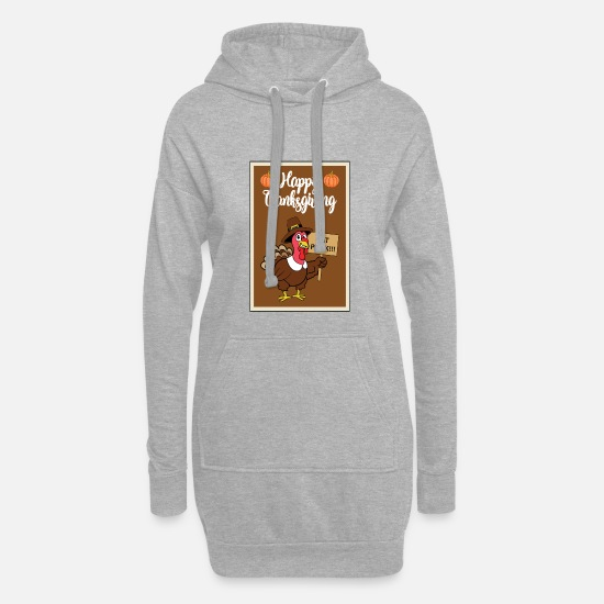 Poultry Hoodies & Sweatshirts - Thanksgiving turkey turkey thanksgiving - Women's Hoodie Dress heather grey