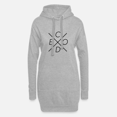 Coder code - Frauen Hoodiekleid