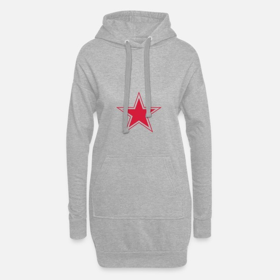 Communiste Sweat-shirts - Star russe - Robe sweat Femme gris chiné