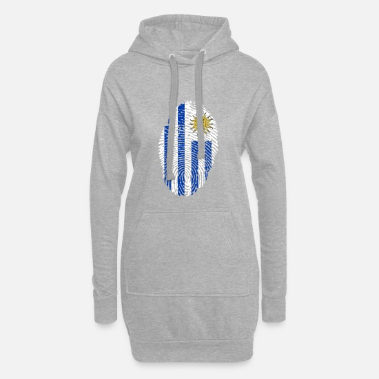 South America Hoodies & Sweatshirts - URUGUAY FINGERABPRESSION. SOUTH AMERICA SPANISH - Women's Hoodie Dress heather grey