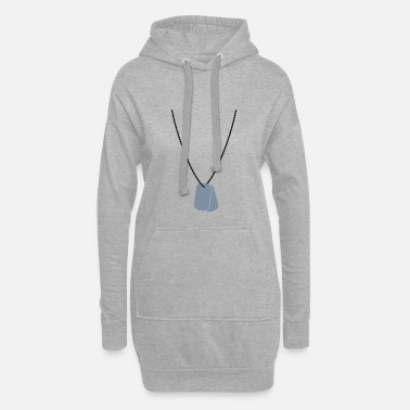 Tag Dog tags / dog tags - Women's Hoodie Dress