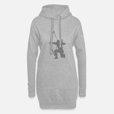 Archer Longbow Archer kneeling stance - Women's Hoodie Dress