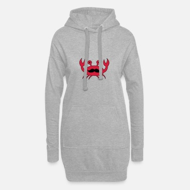 Crab Crab with mustache - Women's Hoodie Dress