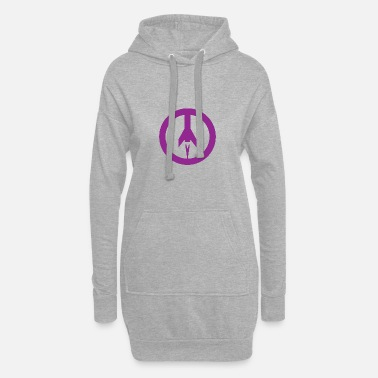 Missile Missile+peace - Women's Hoodie Dress