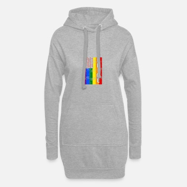 Lesbian Clothing Rainbow Gay Pride Gay Rainbow Schwu - Women's Hoodie Dress