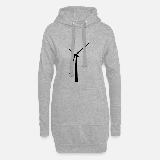 Turbine Hoodies & Sweatshirts - windmill windmill wind turbine windrad33 - Women's Hoodie Dress heather grey