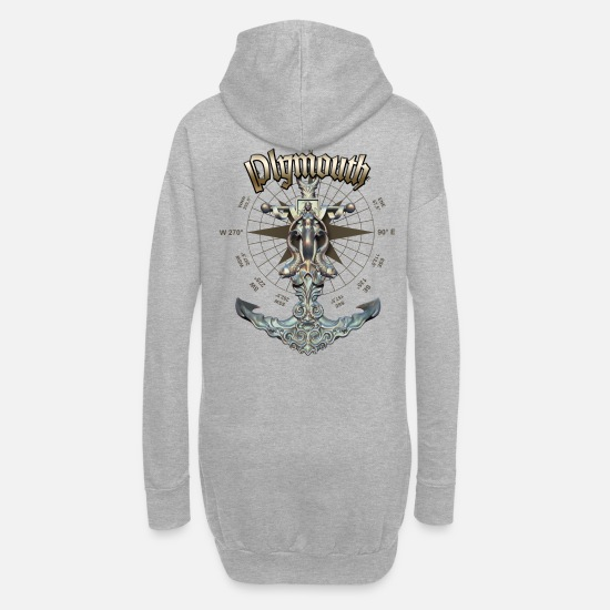 Yacht Hoodies & Sweatshirts - Plymouth Anchor Nautical Sailing Boat Summer - Women's Hoodie Dress heather grey